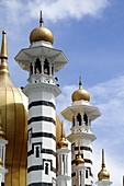 Golden Domes and Minarets of the Ubudiah Royal Mosque 1917 Kuala Kangsar Perak Malaysia