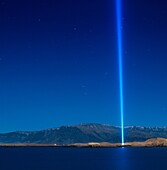 Imagine Peace Tower  Iceland The Imagine Peace Tower, a memorial to John Lennon from Yoko Ono, located on Videy Island, Reykjavik, Iceland  It consists of a tall ´tower of light´, projected from a white stone well which has the words ´Imagine Peace´ carve