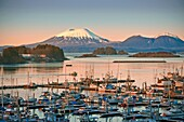Sunrise over Thomsen Harbor in Alaska  The City and Borough of Sitka is a unified city-borough located on the west side of Baranof Island in the Alexander Archipelago of the Pacific Ocean part of the Alaska Panhandle, in the U S  state of Alaska  With an.