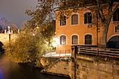 On the banks of the river Regnitz, Bamberg, Franken, Bavaria, Germany, Europe, UNESCO World Heritage Site