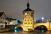 Old Town Hall on the river Regnitz, Bamberg, Franken, Bavaria, Germany, Europe UNESCO World Heritage Site