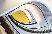 Staircase in the AOK building, near Schoene Aussicht, Kassel, Hesse, Germany, Europe