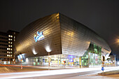 CineStar Cinema at night, Karlsplatz, Kassel, Hesse, Germany, Europe