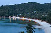 Haad Yao Beach or Long Beach, Koh Phangan Island, Surat Thani Province, Thailand, Southeast Asia