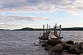 Boardwalk on the swedish coast, Strandskogen, Lysekil, Bohuslän, Sweden