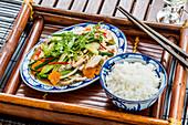 Traditionelles vietnamesisches Essen, Kaiserstadt Hue, Vietnam, Asien