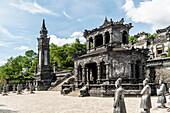 Tomb of the emperor Khai Dinh, city of Hue, Vietnam, Asia