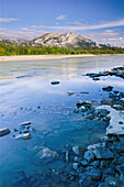 Shoreline of the Alatna River, a National Wild and Scenic River in Gates of the Arctic National Park & Preserve, Arctic Alaska, Summer