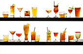 Display of Various Alcohol Drinks