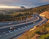 La Linea De La Concepcion, Cadiz, Spain, Motion Blur Of Cars On Highway
