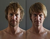 Before And After Portrait Of Man