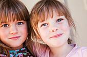 Portrait of two girls, gold coast queensland australia