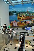 In the international airport, Yangon, Myanmar, Burma, Asia