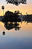 Sule Pagoda, Yangon, Myanmar, Burma, Asia