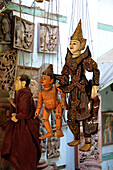Puppetfigures, Mandalay, Myanmar, Burma, Asia