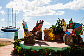Christmas in St. Vincent harbour, Granadines, Windward Islands, Kleine Antillen, Karibik