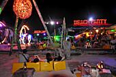 Beachparty at Lo Dalam Bay, Ko Phi Phi, Andamanensee, Thailand, Asia