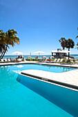 Swimming pool im Luxushotel Reach Resort, Key West, Florida Keys, USA