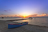 Beach at sunrise, Moorings Village Resort, Islamorada, Florida Keys, Florida, USA
