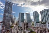 Blick über Downtown Miami, Miami, Florida, USA