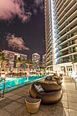Pool are at hotel Epic, Downtown Miami, Miami, Florida, USA