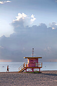 Lifeguard Hut, South Beach, Miami, Florida, USA