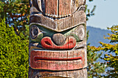 Kwakiutl Totem pole, carved by Mungo Martin with Henry Hunt & David Martin by the Maritime Museum, Vancouver, British Columbia, Canada