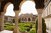 Aram Bagh (Pleasure Garden) as seen from Sukh Niwas, Amber Fort, Rajasthan, India