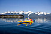 Alaska, Juneau, Favorite Passage. Kayaking through beautiful mountain ranges.