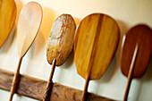 Hawaii, Oahu, Old Hawaiian canoe paddles