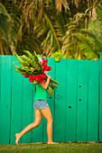 Pacific, Stock, Dana, Edmunds, Afternoon, Asian, Asian-American, Behind, Bloom, Body, Bouquet, Bright, Bunch, Bundle, Carry, Child, Colorful, Cover, Cute, Dana Edmunds, Day, Fast, Fence, Ginger, Girl, Green, Hair, Hawaii, Hidden, Hide, Hold, Local, Outdoo