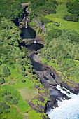 Hawaii, Maui, Haleakala National Park, Seven Sacred Pools, also know as Oheo Gulch.