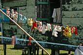 'Soft Toys Hanging On Washing Line, Tasbapauni, Nicaragua'