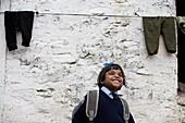 'Orphaned Girl In School Uniform; Pokhara, Nepal'