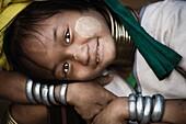 'Young Girl Smiling At Camera; Mae Hong Son, Thailand'