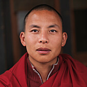 'A Young Monk In A Red Robe; Thimphu Thimphu District Bhutan'