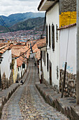 'View Of Buildings And A Street In Sacred Valley; Cusco Peru'