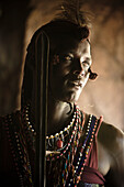 'Portrait Of A Young Man In Traditional Clothing; Masai Mara Kenya'