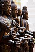 'Bhuddist Images In A Temple, Phnom Penh Cambodia'