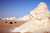 Egypt, camping in the white desert