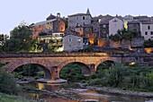 Montlaur village in Aveyron region, France