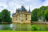 France ,Loire Valley , Azay le Rideau Castle.