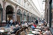 Belgium - Brussels - The Royal Galleries Saint Hubert - terrace