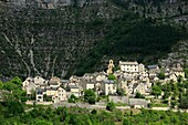 France, Lozère (48), Montbrun, hilltop village located in the Tarn gorges, has backed the mountain plateau