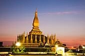 Laos,Vientiane,Pha That Luang