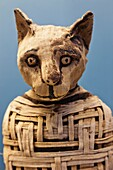 England,London,British Museum,Egyptian Room,Display of Egyptian Mummified Cat