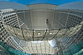 'Paris-La-Défense - The Grand Arch (Architects: Johann Otto von Spreckelsen and Erik Reitzel) - '' The suspended cloud '' imagined by the architect Paul Andreu'