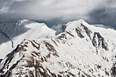 Snow covered mountains, Hohe Tauern, East Tyrol, Tyrol, Austria