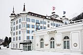 Casino and Steigenberger Hotel, St. Moritz, Engadine valley, Upper Engadin, Canton of Graubuenden, Switzerland