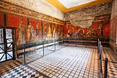 Fresco in the Villa de Misteri, historic town of Pompeji in the Gulf of Naples, Italy, Europe